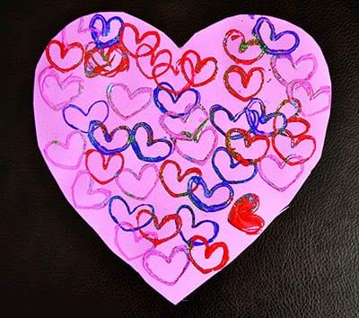 Рисунок из сердечек
