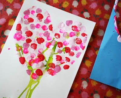 Рисунок отпечатками пальчиков