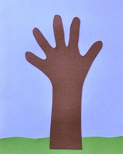 Дерево из отпечатка ручки