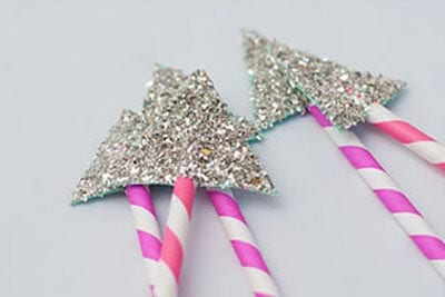 Decorate the tips with sparkles