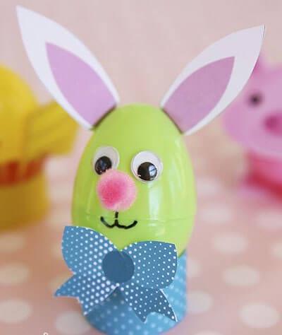Кролик из пластмассового яйца