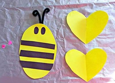 Складываем тельце пчелки