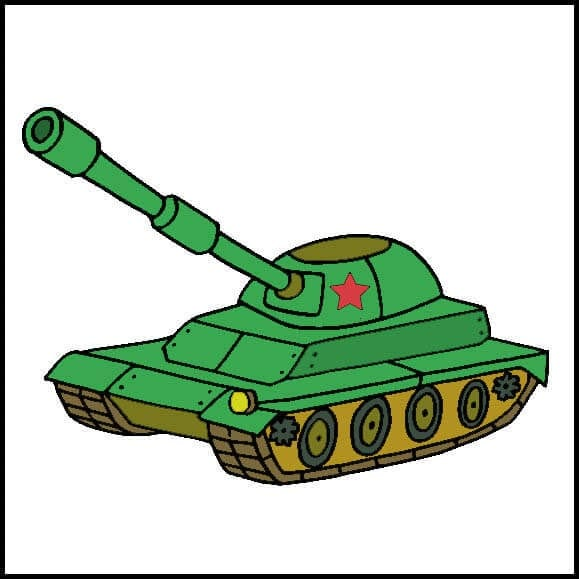 Картинка к 23 февраля танк