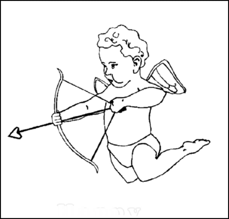 Coloring an Angel Shoots an Arrow