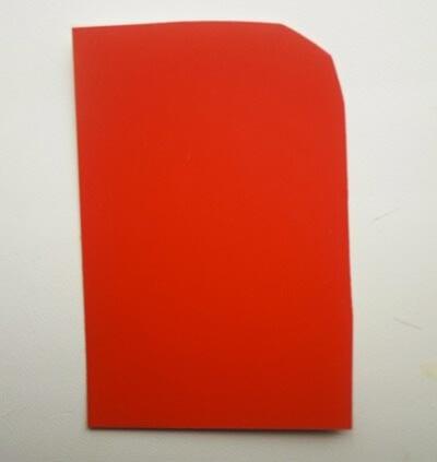 Кусок красного картона