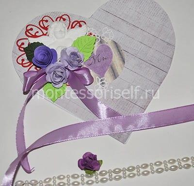 Открытка для мамы с сердечком