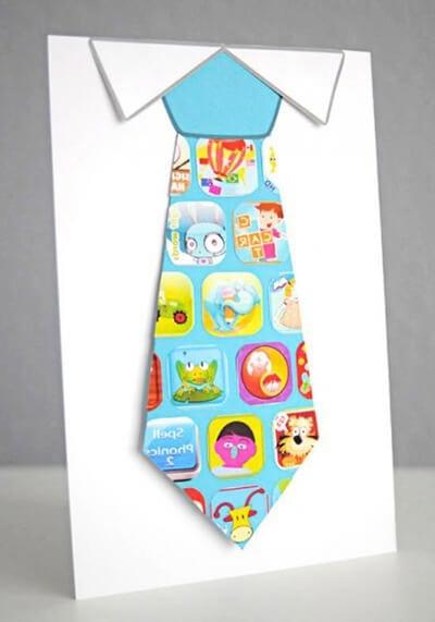 """Поделка """"рубашка с галстуком"""""""