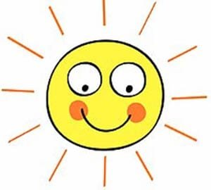 Картинка веселое солнышко 9