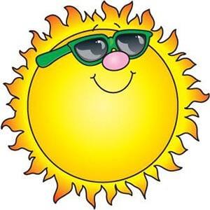 Картинка солнышко в очках 2