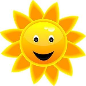 Картинка веселое солнышко 7