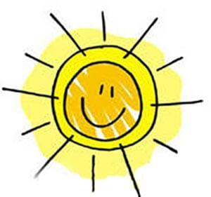 Картинка веселое солнышко 5