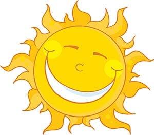 Картинка солнышко смеется