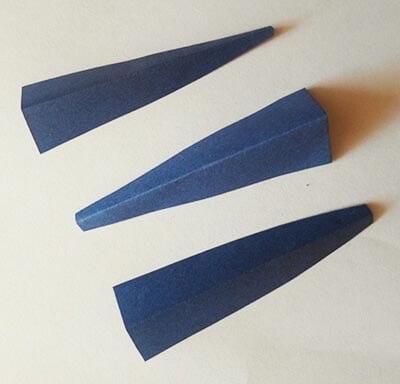 Делаем согнутые по центру треугольники