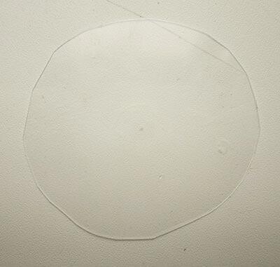 Вырезаем круг - будущий шлем