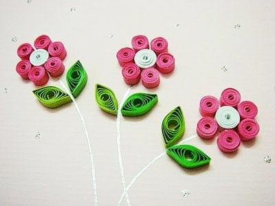 Весенние цветы в технике квиллинг