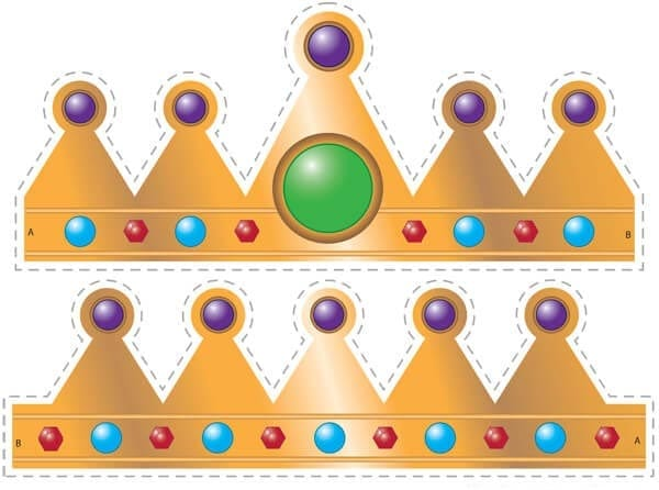 Корона шаблон для вырезания 9