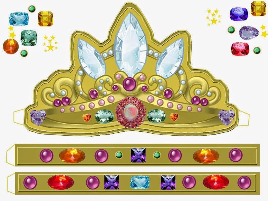 Корона шаблон для вырезания 10