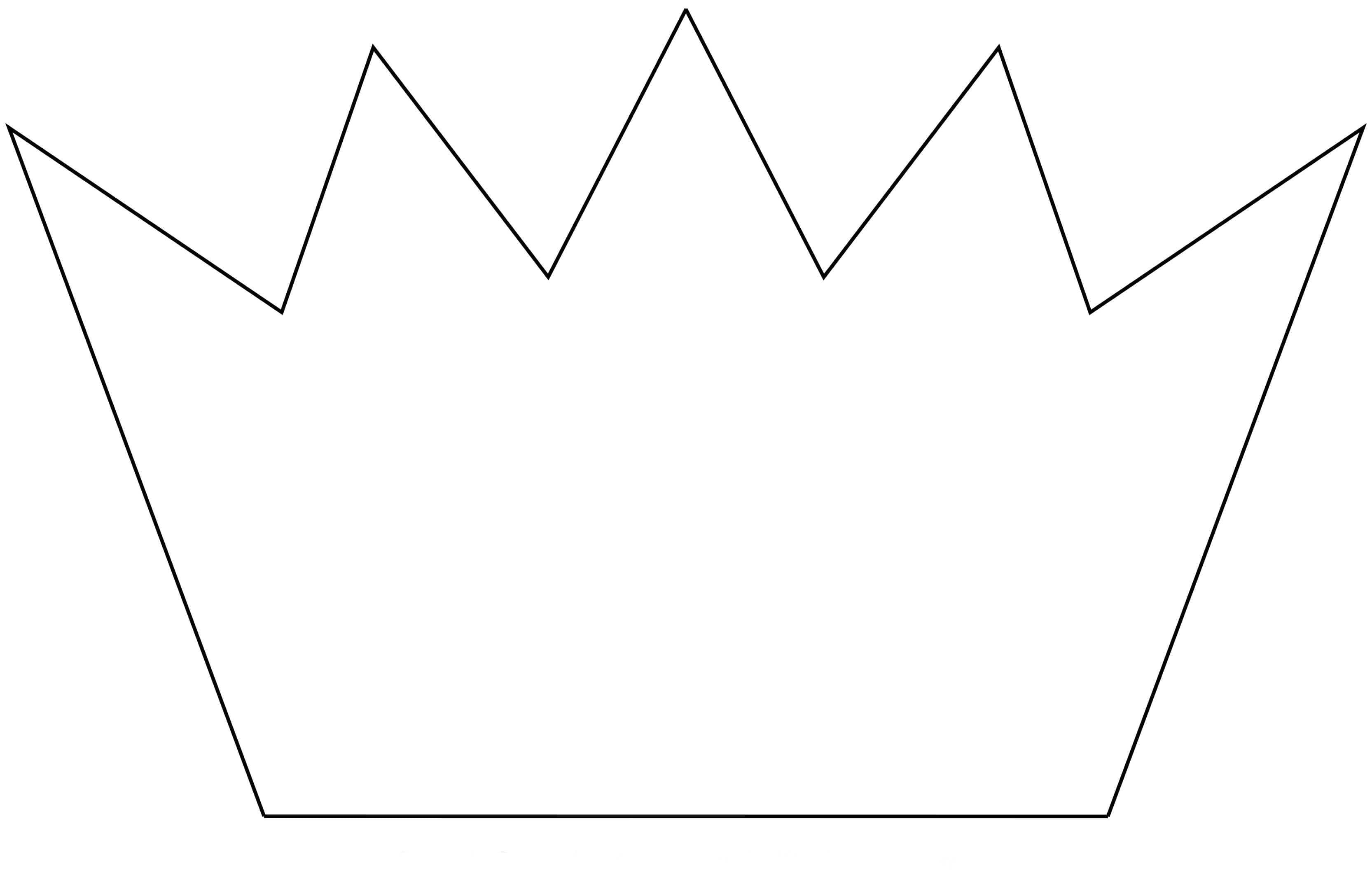 Корона шаблон для вырезания 4