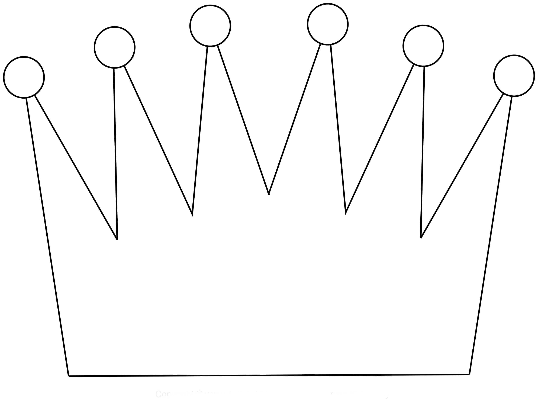 Корона шаблон для вырезания 6