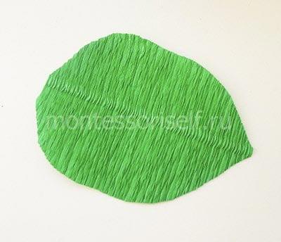 Зеленый лист бумаги