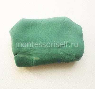 Прямоугольник из пластилина
