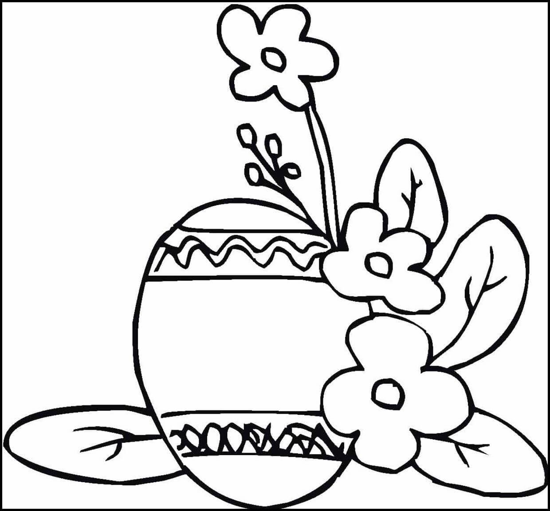 Раскраска яичко с цветами