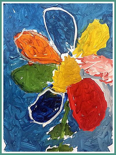 """Рисунок на 8 марта """"Цветок"""""""