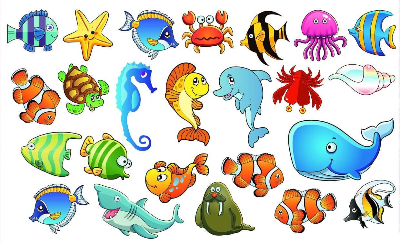 Рыбки картинки для детей нарисованные