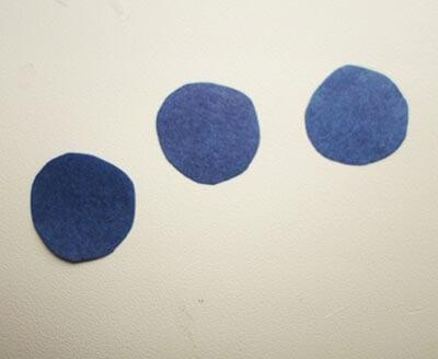 Синие круги - будущие окна