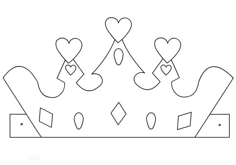 Корона шаблон для вырезания 2