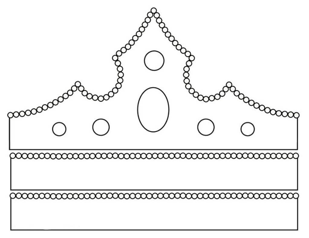 Корона шаблон для вырезания 1