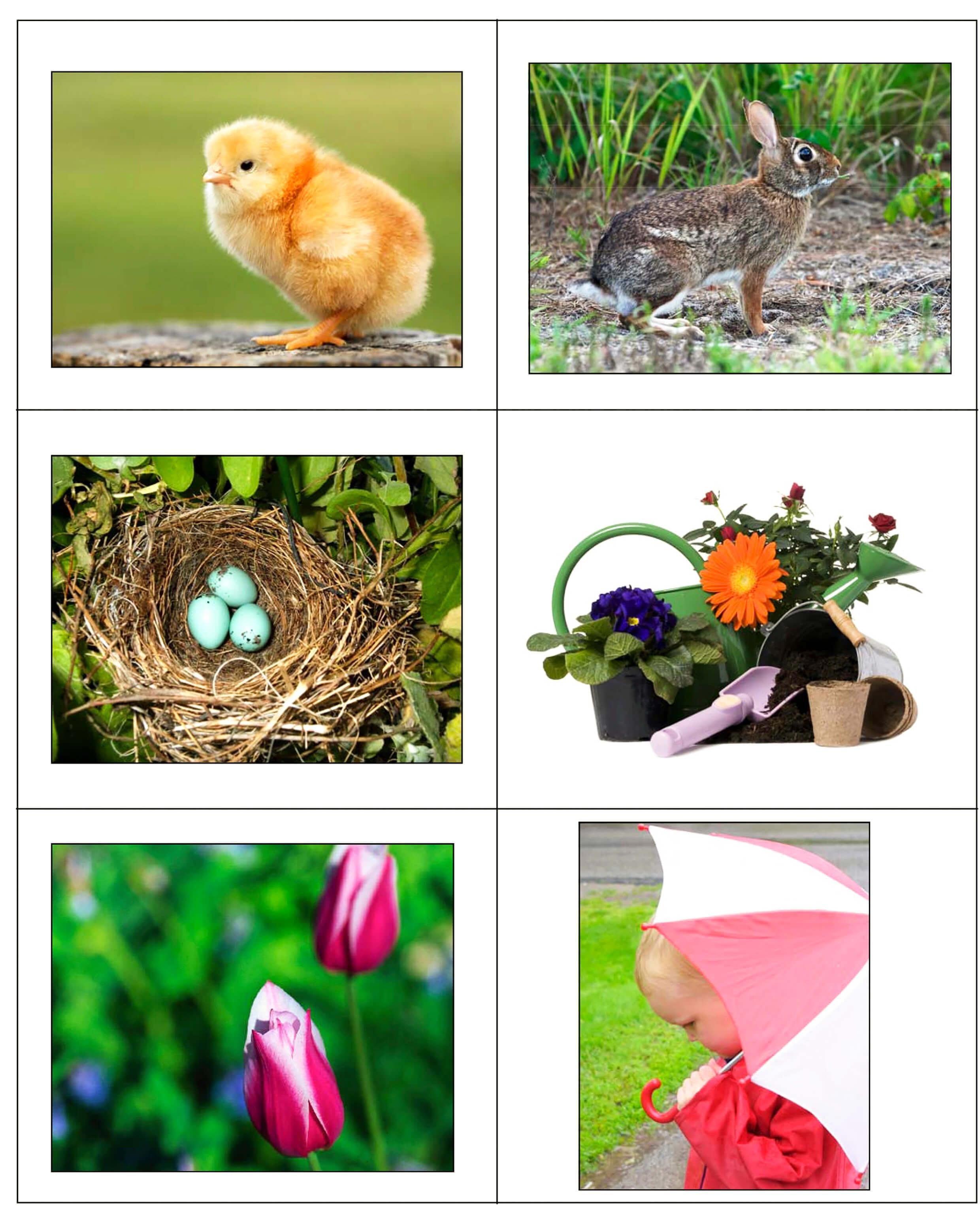 """Карточки для детского сада на тему """"весна"""" 1"""