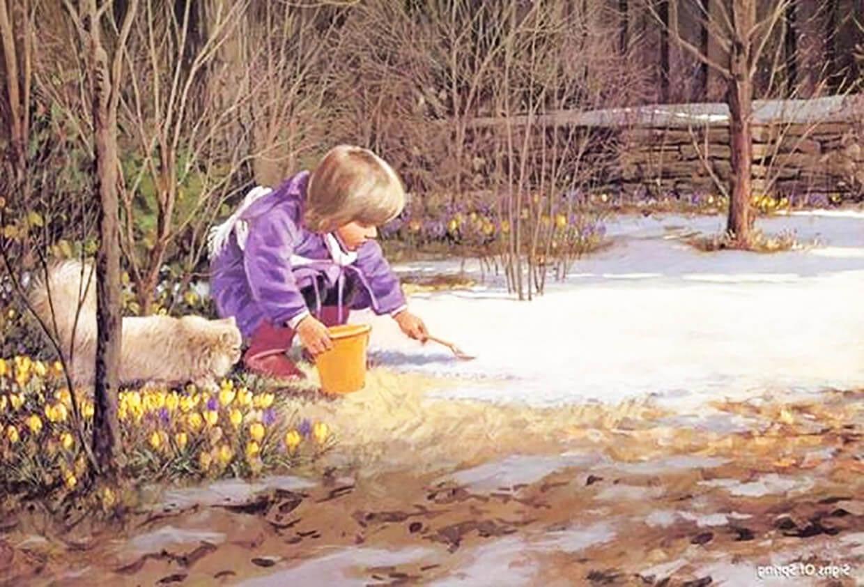 Весна и ребенок картинка