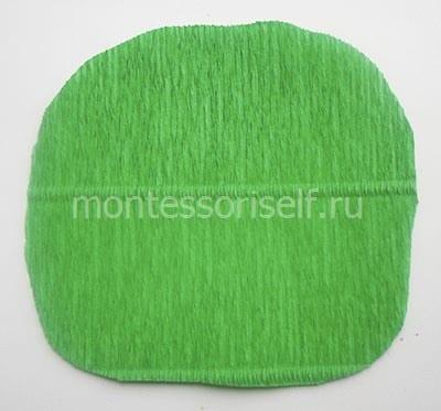 Основа из зеленой бумаги