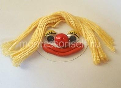 Волосы из ниток