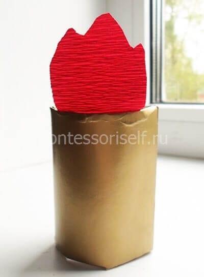 Огонь из красной бумаги
