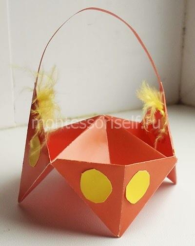 Корзинка оригами своими руками