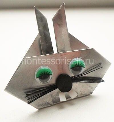 Кролик оригами на Пасху