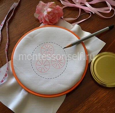 Наносим схему для вышивки
