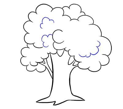 Ветви дерева по центру