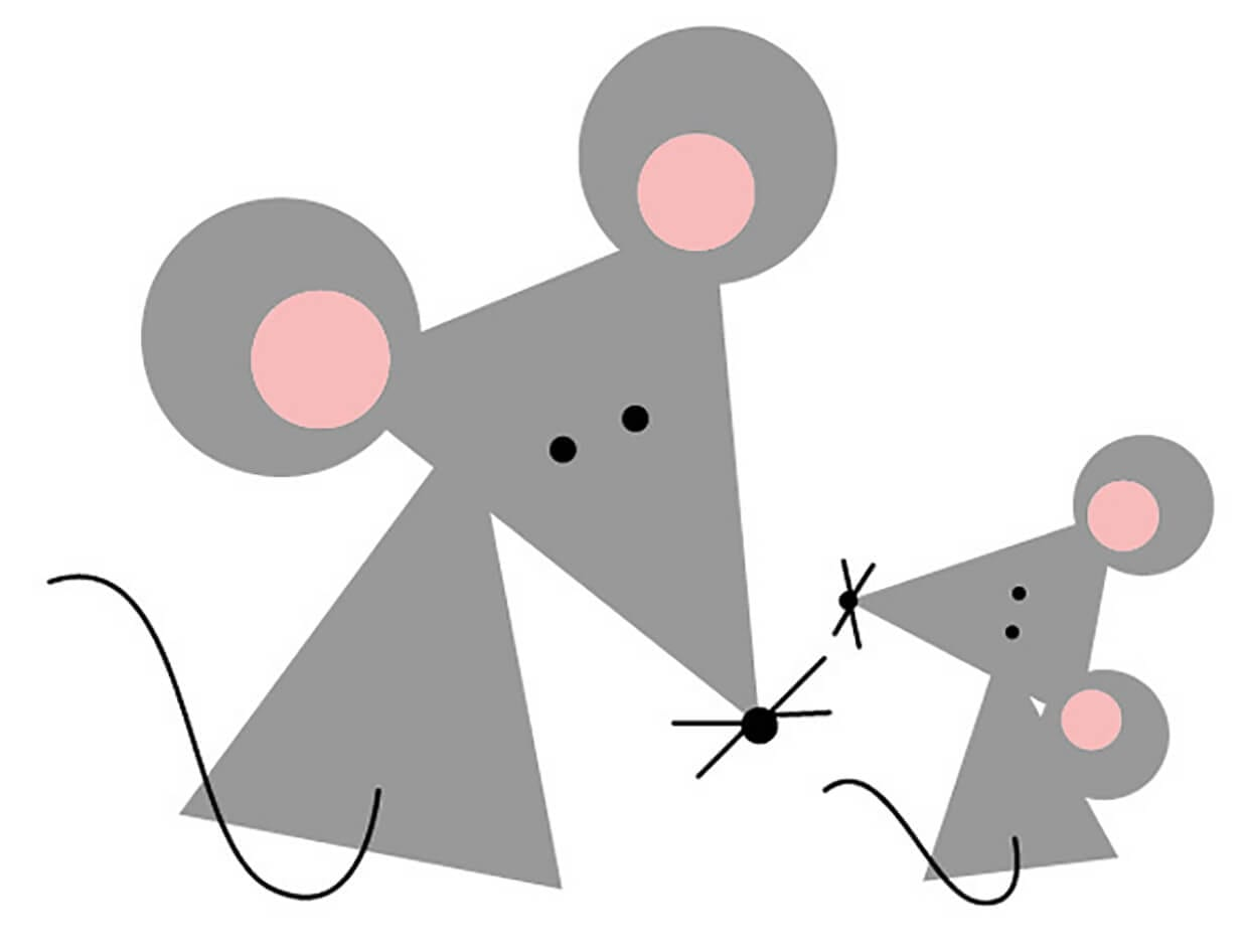 Mouse of geometric shapes