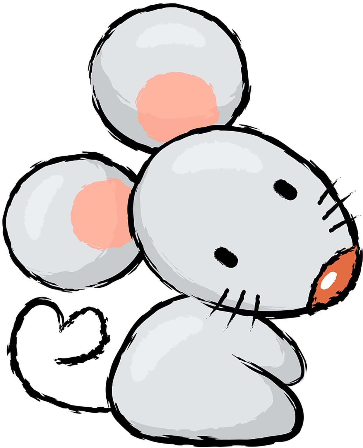 Рисунок мышка 3
