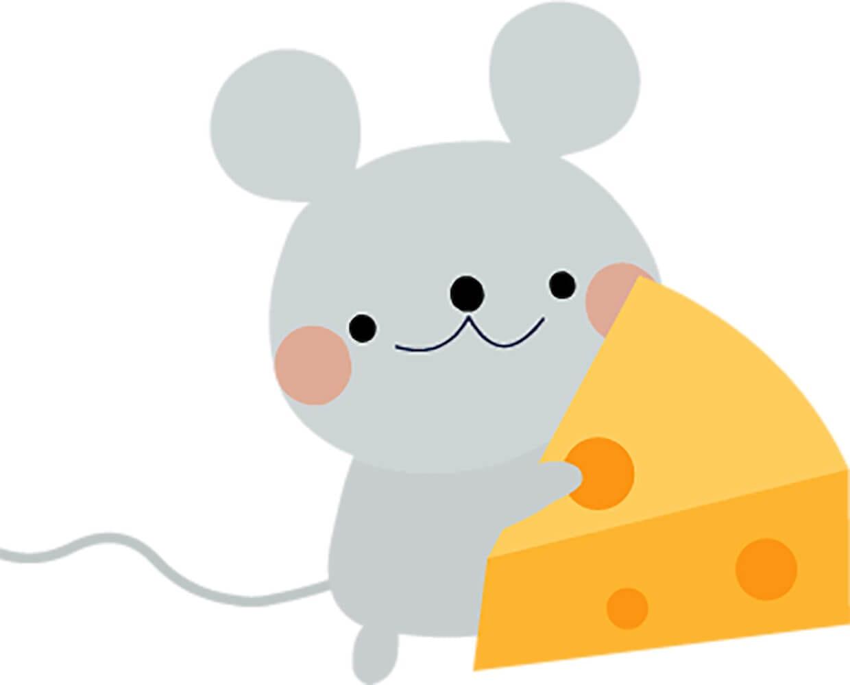 Мышка с сыром картинка 1