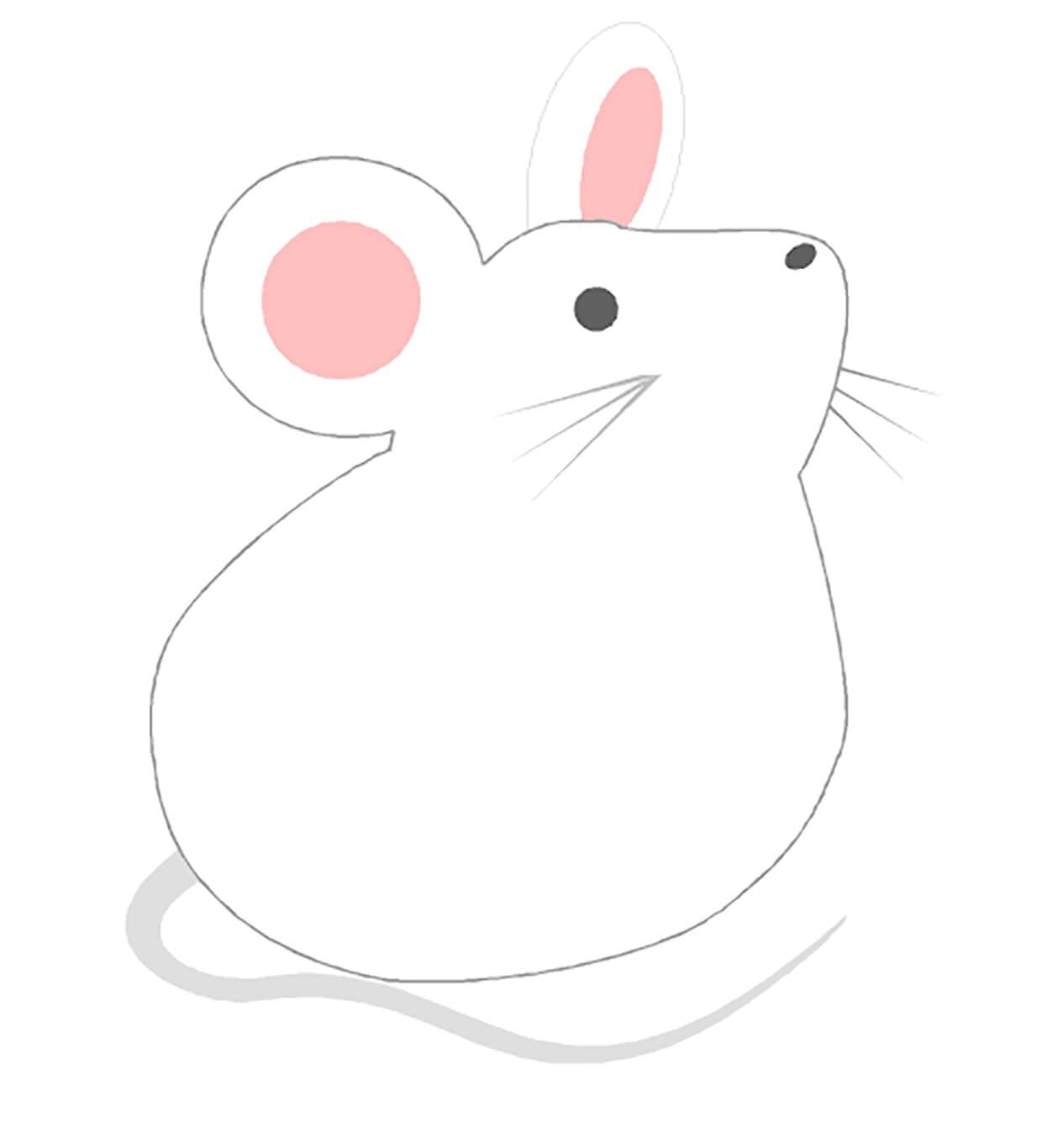 Белая мышка картинка