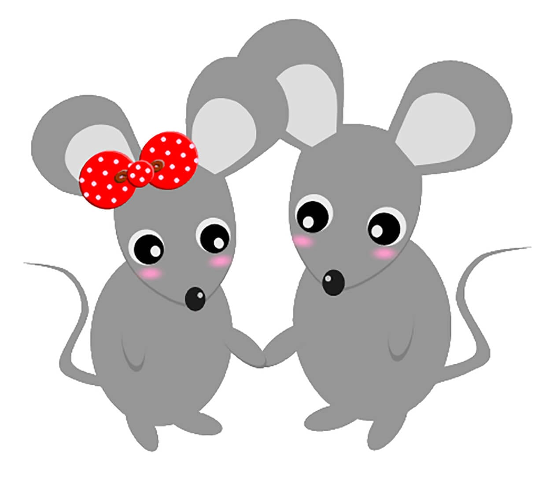 Картинка две мишки