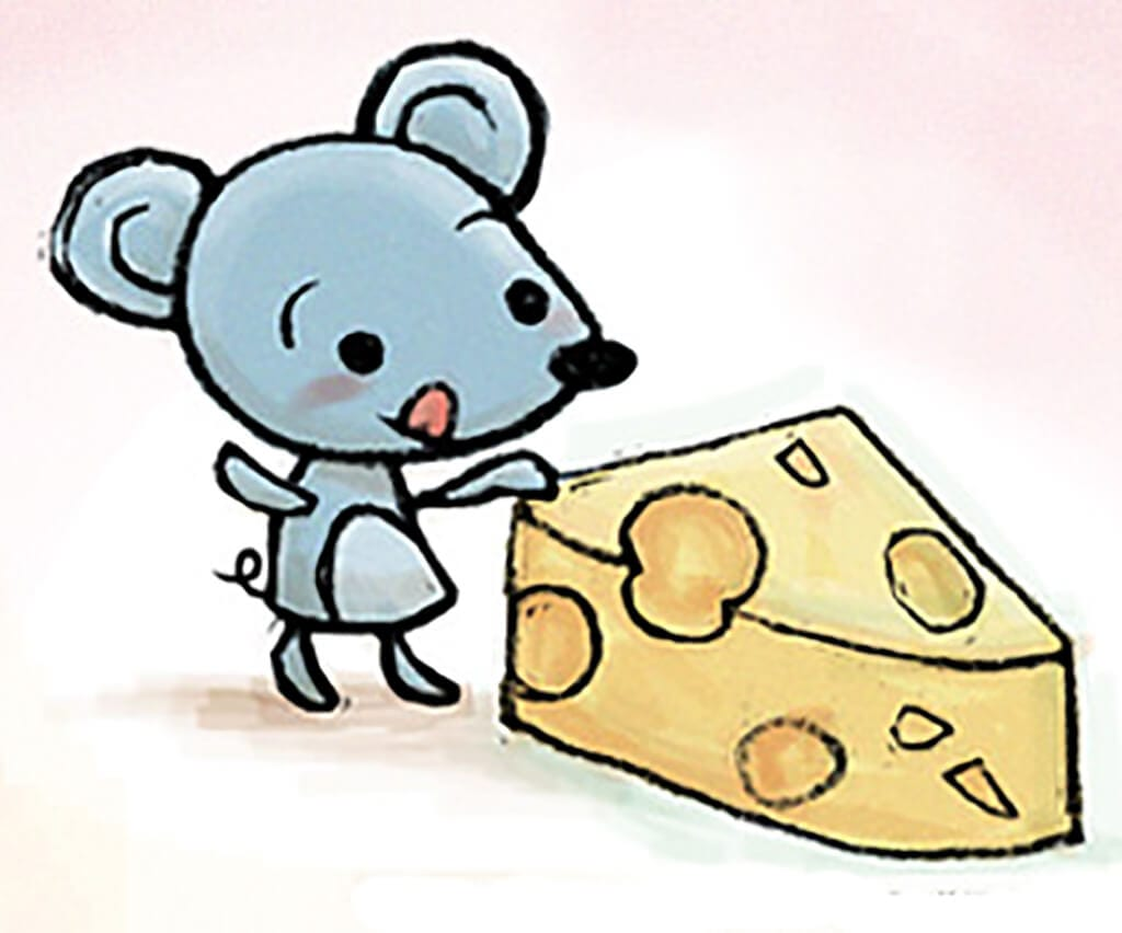 Мышка с сыром картинка 4