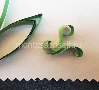 S-образный завиток для листика