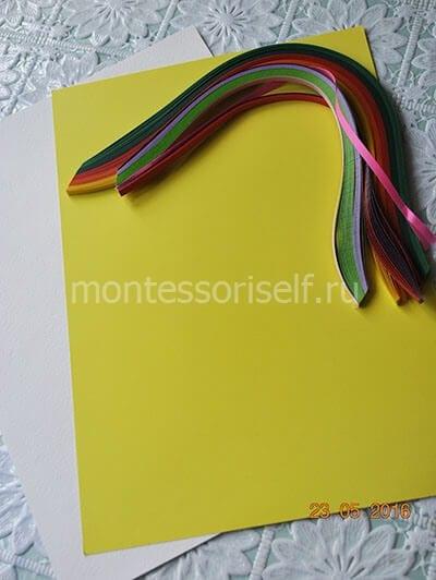 Бумага для поделки и ленты для квиллинга