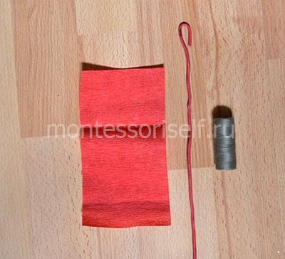 Rectangle, wire and thread