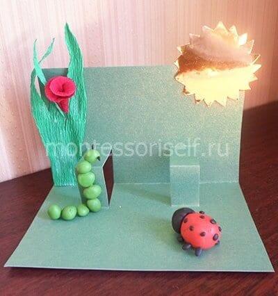 Приклеиваем цветок